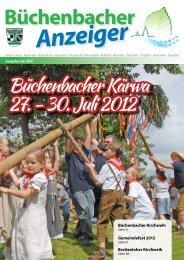 Büchenbacher Kärwa 27. - 30. Juli 2012 - Gemeinde Büchenbach
