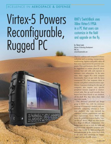 Feb 2009 Virtex-5 Powers Reconfigurable, Rugged PC Xilinx Xcell ...