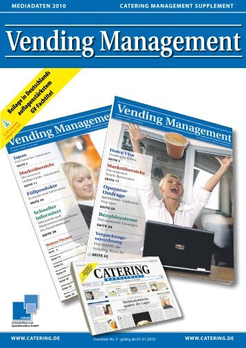 Vending Management - Catering Management