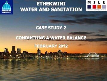 Water Balance Compilation - Feb 2012 Final - MILE