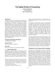 The Digital Divide of Computing - Xputer Lab Kaiserslautern
