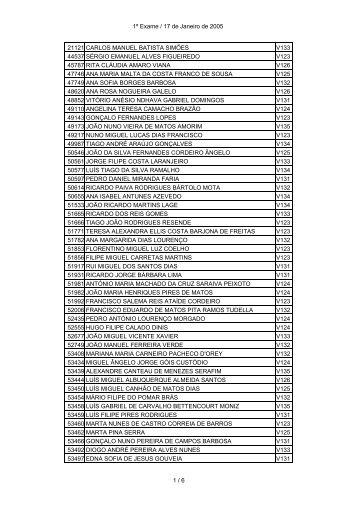 1º Exame / 17 de Janeiro de 2005 21121 CARLOS MANUEL ...