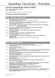 Sessões Técnicas - Painéis - IV Congresso Brasileiro de Educação ...