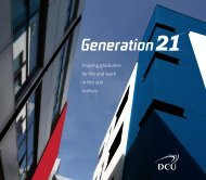 shaping graduates for life and work in the 21st century - DCU