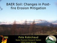 BAER Soil: Changes in Post- fire Erosion Mitigation - Association for ...