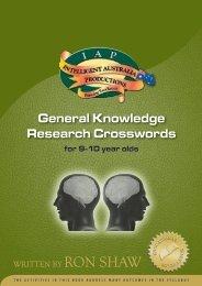 General Knowledge Research Crosswords - Australian Teacher