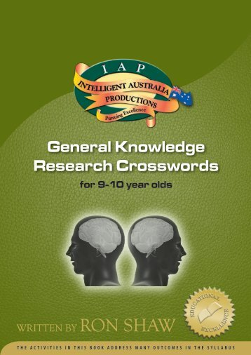 General Knowledge Research Crosswords - Australian Teacher