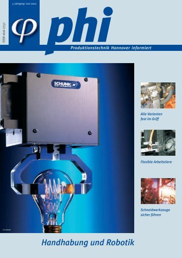 Handhabung und Robotik - Produktionstechnik Hannover informiert