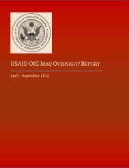 USAID OIG Iraq Oversight Report - US Agency For International ...