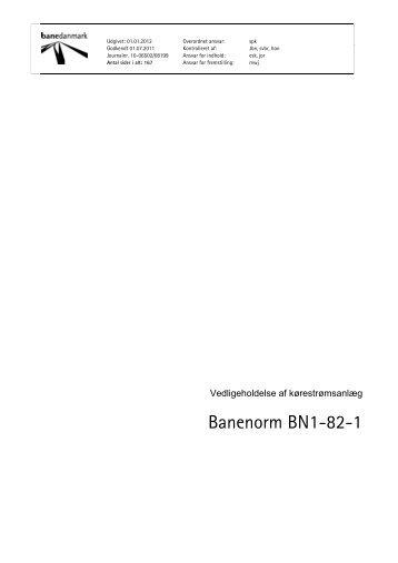 BN1-82-1 Vedligeholdelse af kørestrømsanlæg - Banedanmark