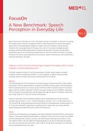 A New Benchmark: Speech Perception in Everyday Life ... - Med-El