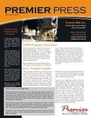 September - Premier Milk Inc.