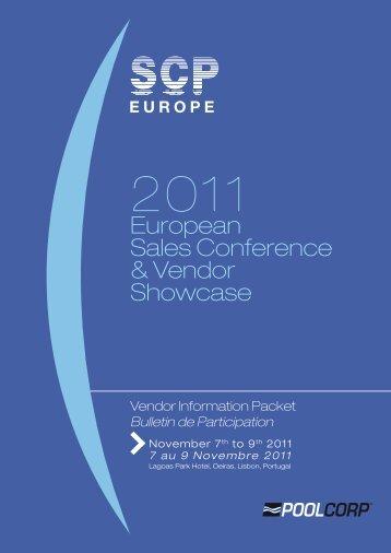 European Sales Conference & Vendor Showcase