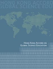 v. Hong Kong Accord on Global Science Education - Faculty of ...
