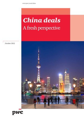 China Deals - A fresh perspective - PwC