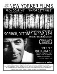 A film by Claude Lanzmann - New Yorker Films