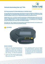 Solar-Log 1000 Powermanagement+ technische Beschreibung