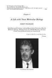 A Life with Yeast Molecular Biology - Prof. Dr. Horst Feldmann