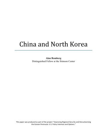 China and North Korea