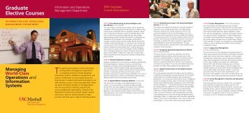 See Brochure PDF - USC Marshall Current Students