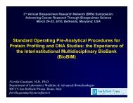 Standard Operating Preanalytical Procedures for Protein Profiling ...