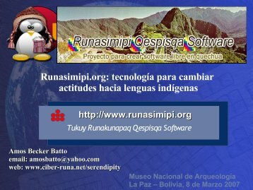 Runasimipi.org: tecnología para cambiar actitudes hacia ... - ILLA