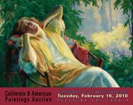 TuESdAy, FEbruAry 16, 2010 - California Art Auction