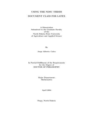 Latex thesis phd