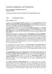 Protokoll der Schulkonferenz vom 12 - Gymnasium am Moltkeplatz