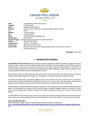 1. INFORMACIÓN GENERAL - Palladium Hotel Group