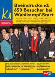 Beeindruckend: 650 Besucher bei Wahlkampf-Start - SPÖ ...