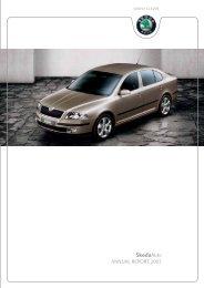 ÅkodaAuto ANNUAL REPORT 2003 - Skoda Auto