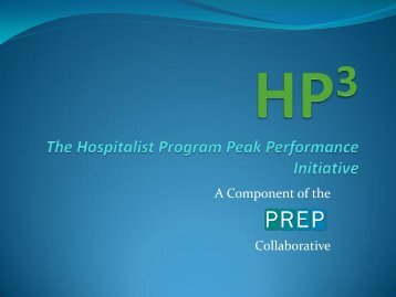 HP3 Initiative Hospitalist Program Peak Performance