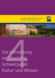 4. Kultur und Wissen - Niederösterreichische Charta für den ...