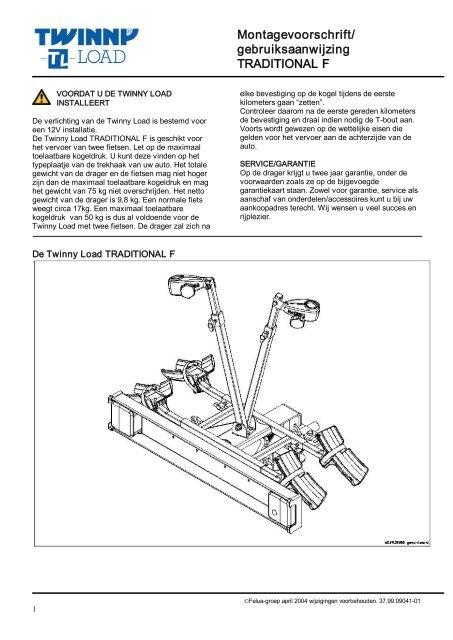 Fonkelnieuw Handleiding Traditional F - Twinny Load MA-83