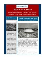 ADVOCACY ALERT - Preservation Pennsylvania