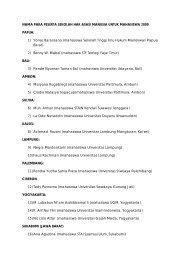 nama para peserta sekolah hak asasi manusia untuk ... - KontraS