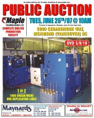 Maple Tech Brochure - Maynards Industries