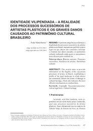 identidade vilipendiada – a realidade dos processos sucessórios de ...