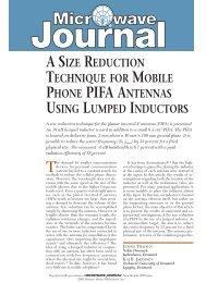 asize reduction technique for mobile phone pifa antennas ... - Speag