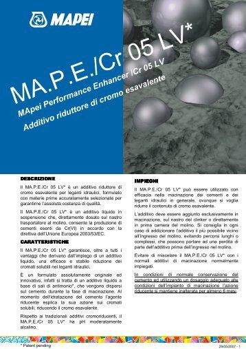MApeiPerformance Enhancer/Cr05 LV Additivo riduttore di cromo ...