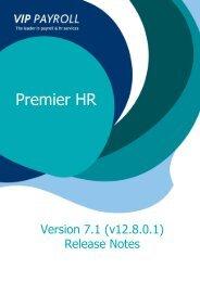 Premier HR - Version 7 Release Notes - Sage VIP Payroll