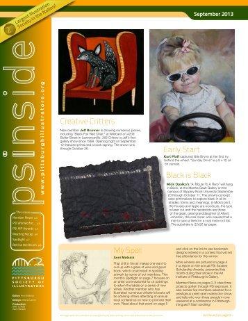 September's PSInside - Pittsburgh Society of Illustrators