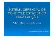 sistema gerencial de controle estatístico para facção