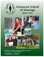 Student Services - Downeast School of Massage