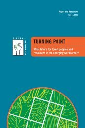 TURNING POINT - Rights and Resources Initiative