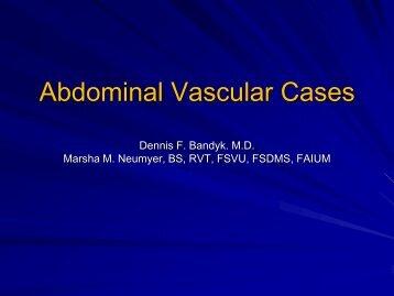 Abdominal Vascular Cases - VascularWeb