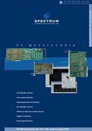 pc - messtechnik - Spectrum GmbH