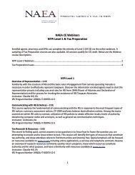 NAEA CE Webinars NTPI Level 1 & Tax Preparation