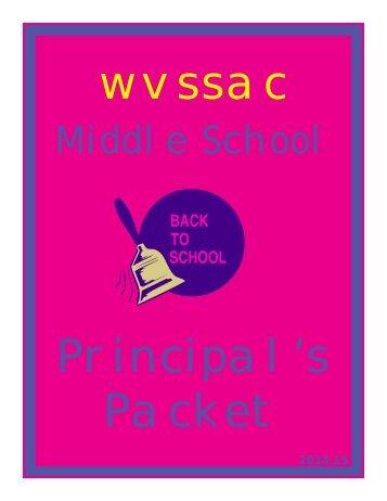MS Principal Packet - wvssac